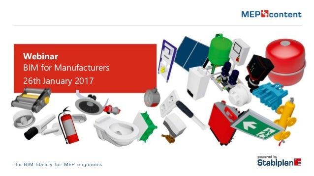 Webinar BIM for Manufacturers 26th January 2017