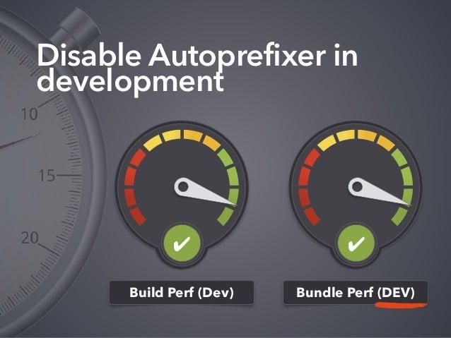 Disable Autoprefixer in development Build Perf (Dev) Bundle Perf (DEV) ✔✔