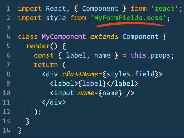 theme.scss combined.scss component.js bundle.js CSS Scope Creep