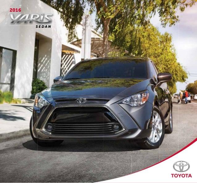 2016 Toyota Yaris Sedan Brochure