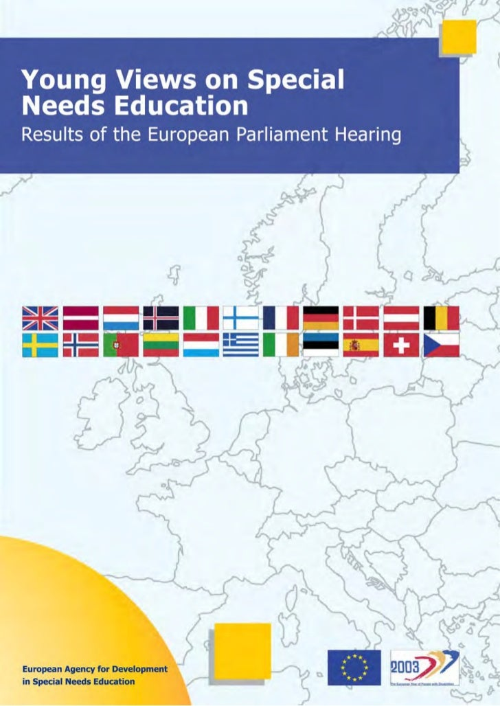 Young Views on Special       Needs Education         Results of the Hearing                 in the         European Parlia...