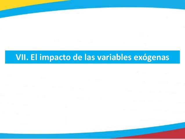 VII. El impacto de las variables exógenas