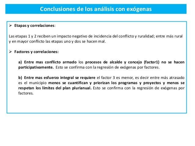 Conclusiones de los análisis con exógenas  Etapas y correlaciones: Las etapas 1 y 2 reciben un impacto negativo de incide...