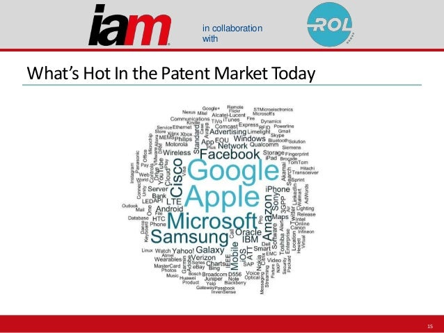in collaboration with What's Hot In the Patent Market Today 15