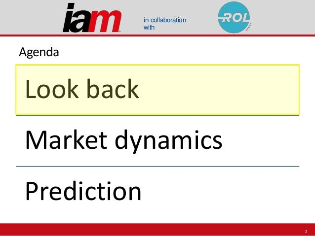 in collaboration with Agenda Look back Market dynamics Prediction 2