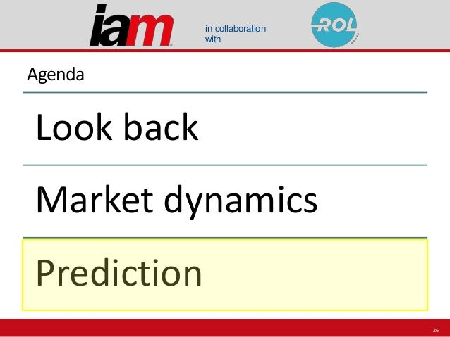 in collaboration with Agenda Look back Market dynamics Prediction 26