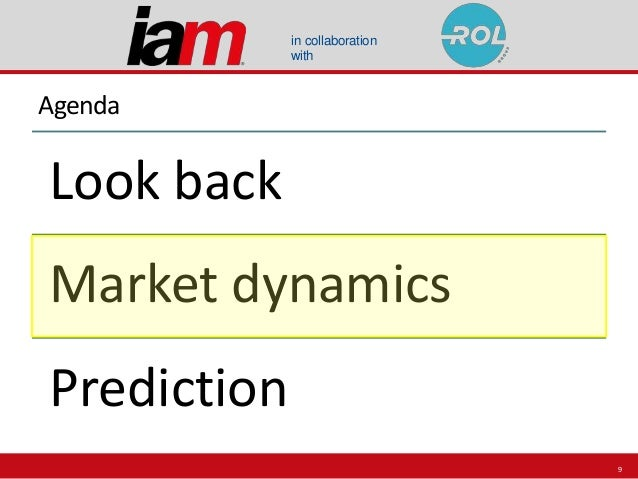 in collaboration with Agenda Look back Market dynamics Prediction 9