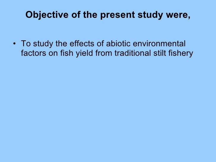 effect of abiotic factors on an Abiotic factors are non living components found in an ecosystem which influence living things (biotic factors) in biology and ecology , abiotic components or abiotic factors are non-living.