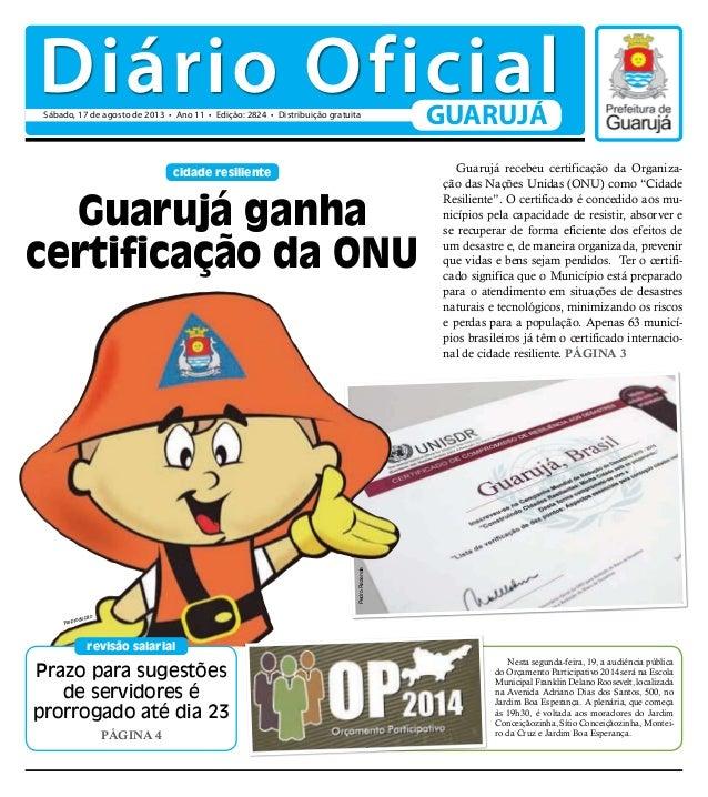 Prazo para sugestões de servidores é prorrogado até dia 23 PÁGINA 4 revisão salarial cidade resiliente Guarujá recebeu cer...