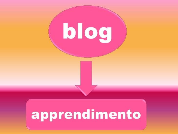 blog<br />apprendimento<br />