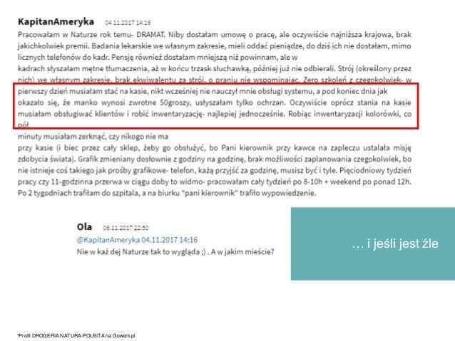 … i jeśli jest źle *Profil DROGERIA NATURA-POLBITA na Gowork.pl