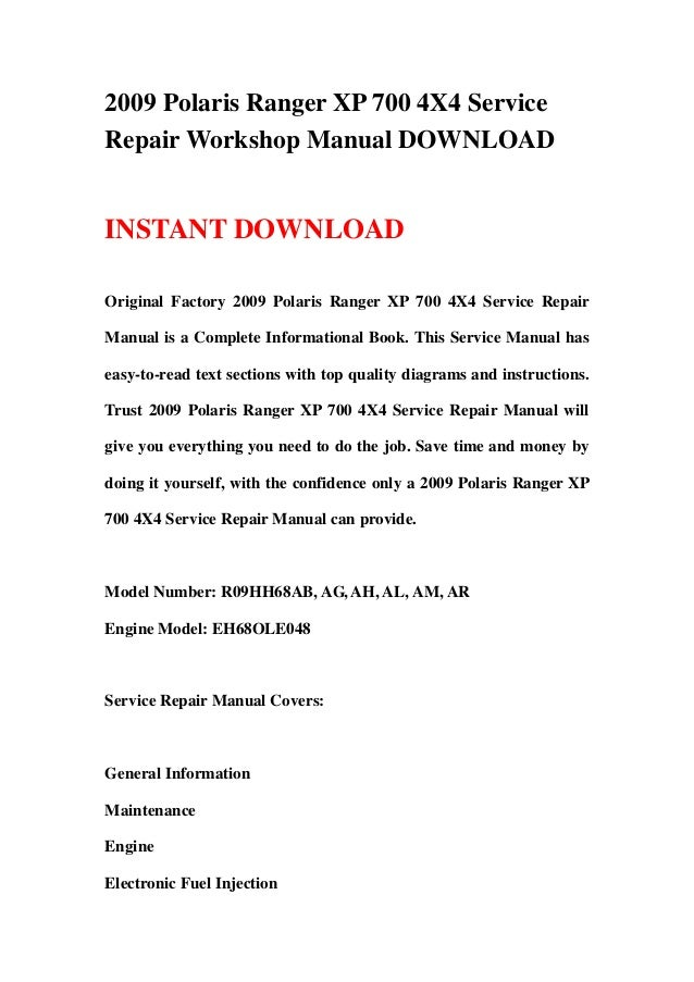 Wiring Diagram 2008 700 Ranger Polaris - Free Download Wiring Diagram