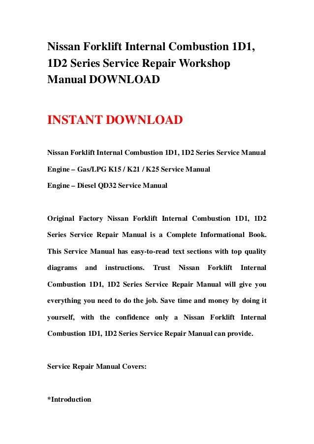 nissan k21 repair manual