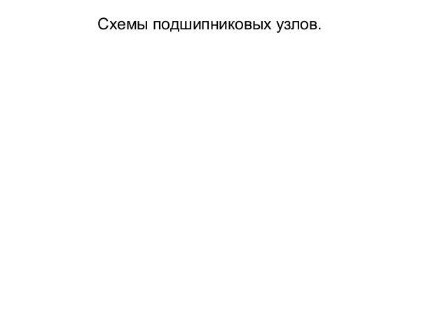 Схемы подшипниковых узлов.