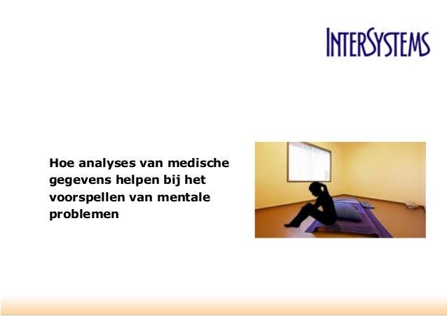 Hoe analyses van medische gegevens helpen bij het voorspellen van mentale problemen