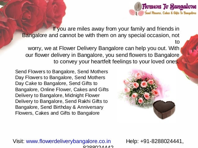 Send Online Flowers To Bangalore If You Are Miles Away From Your Family And Friends In Cannot Be With
