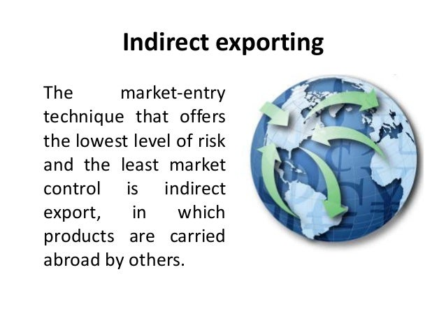 indirect exporting