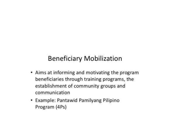impacts of 4ps beneficiaries Dswd to release rice subsidy to 4ps beneficiaries  this also aims to document the impact of the family development sessions (fds), as one of the unique program .