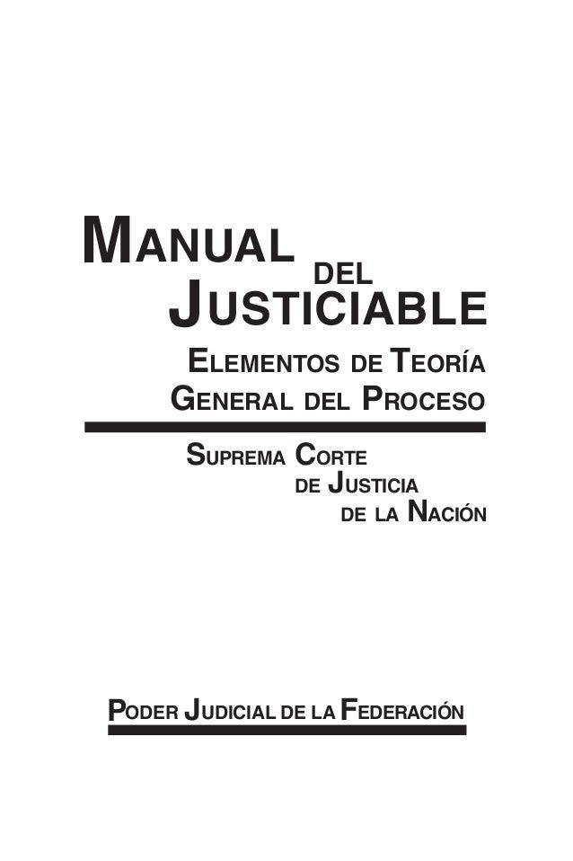 Manual del justiciable- elementos de la teoría general del