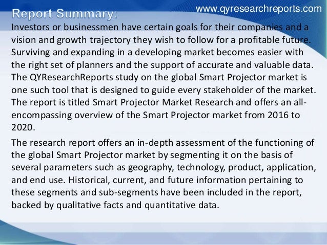 Global Smart Projector Market Trend Analysis, Growth Drivers And Futu…