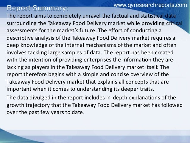 Report Shares Details About the Global Takeaway Food Delivery Sales and Market Share by Manufacturers Slide 2