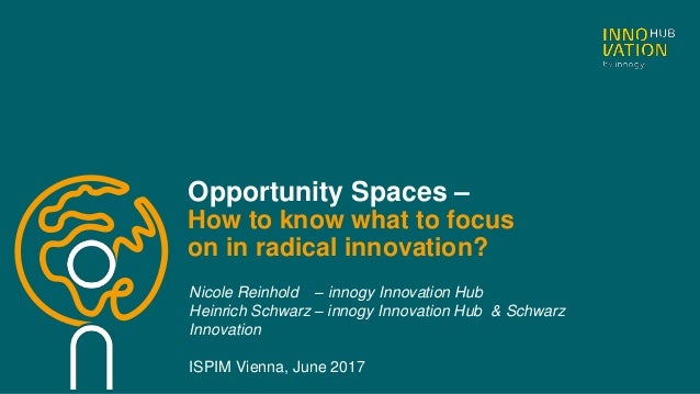 Opportunity Spaces – How to know what to focus on in radical innovation? Nicole Reinhold – innogy Innovation Hub Heinrich ...