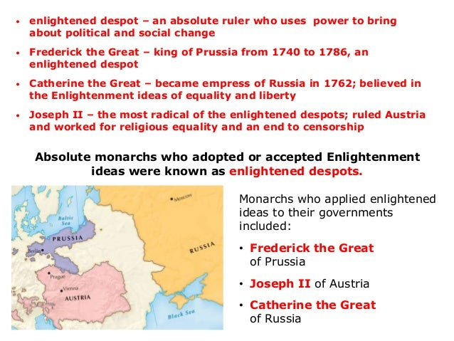 a overview of frederick the great catherine the great and joseph 2 a enlightened despots Study the enlightenment flashcards at proprofs  frederick the great :  monarchs who accepted enlightenment ideas became enlightened despots.