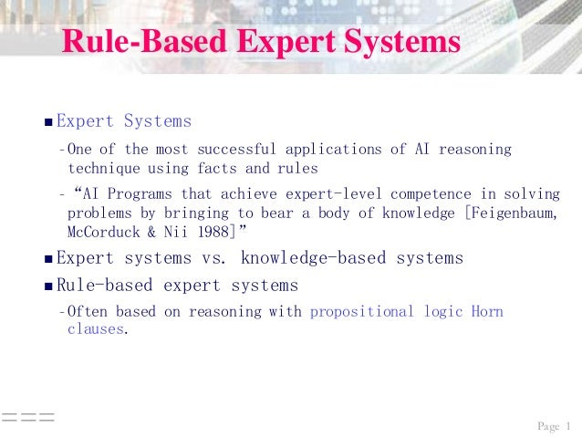 what is expert system pdf