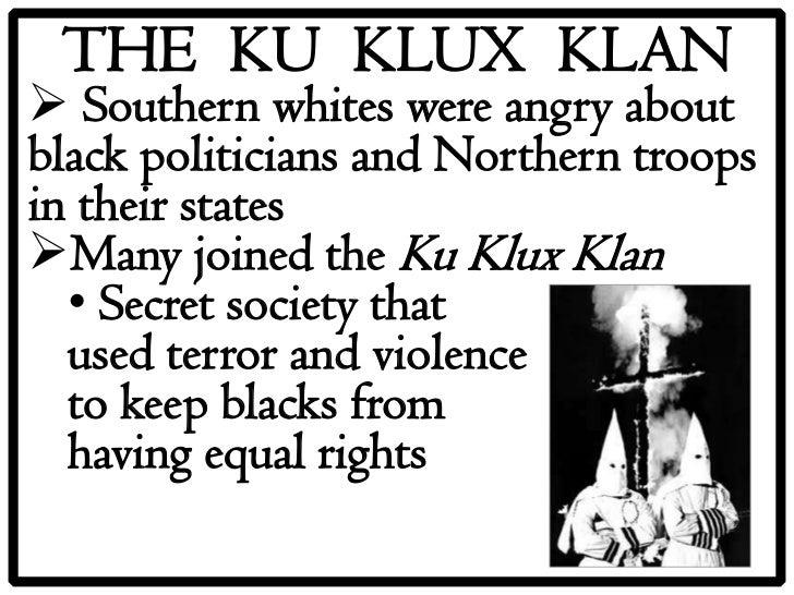 ku klux klan secret society propagating