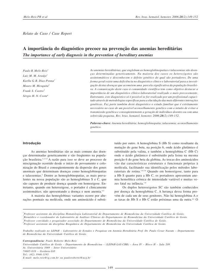 Melo-Reis PR et al                                                                      Rev. bras. hematol. hemoter. 2006;...