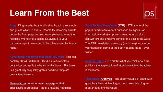 newsletter headline ideas best 25