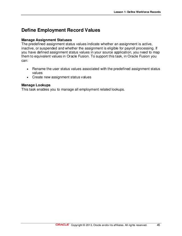 17 define workforce records