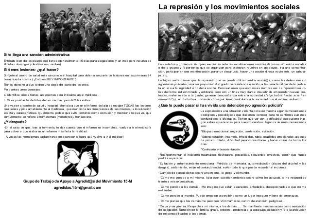 La represión y los movimientos socialesSi te llega una sanción administrativa:Entérate bien de los plazos que tienes (gene...