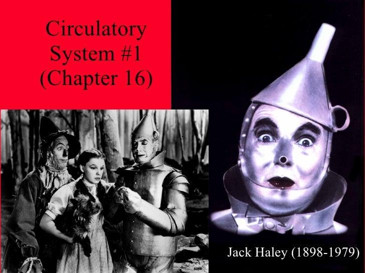 Circulatory System #1 (Chapter 16) Jack Haley (1898-1979)