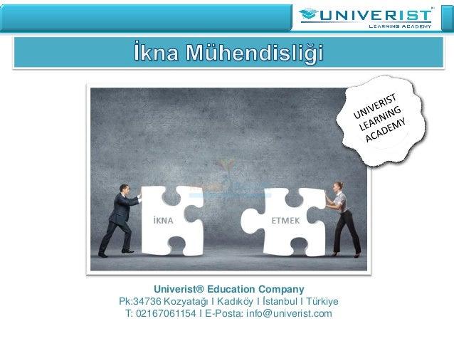 Univerist® Education Company Pk:34736 Kozyatağı I Kadıköy I İstanbul I Türkiye T: 02167061154 I E-Posta: info@univerist.com