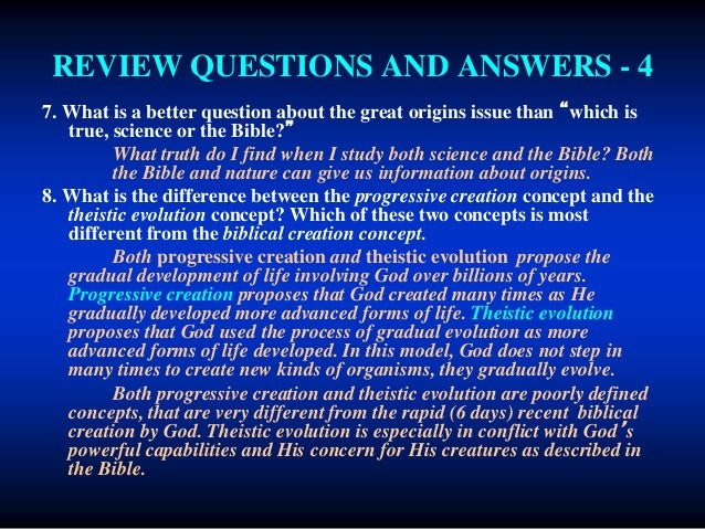 a comparison between the concepts of pure creationists and theistic evolutionists Differences and similarities between evolutionists and creationists most people think that evolutionists and creationists are  oec can be the same as theistic.