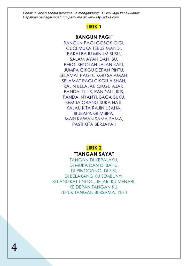 17 Lirik Lagu Melayu