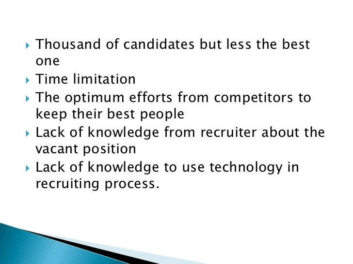 """recruitment and selection of sales people essay """"a study of recruitment and selection process  with best qualified people the recruitment policy of  the recruitment for candidates for the sales."""