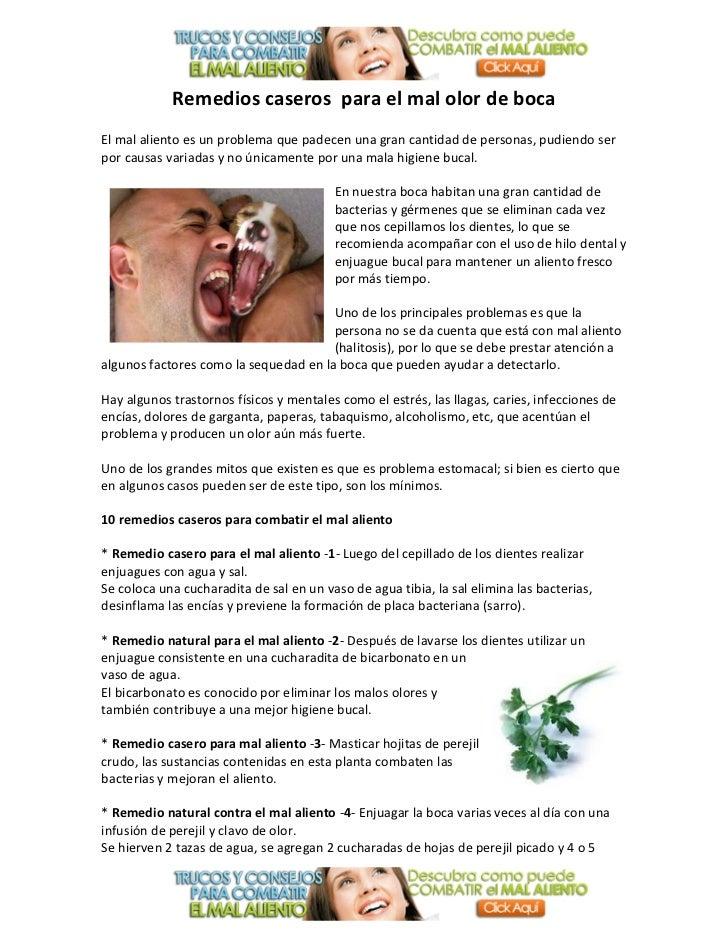 Remedios caseros para desaparecer el mal olor de boca - Sequedad de boca remedios naturales ...