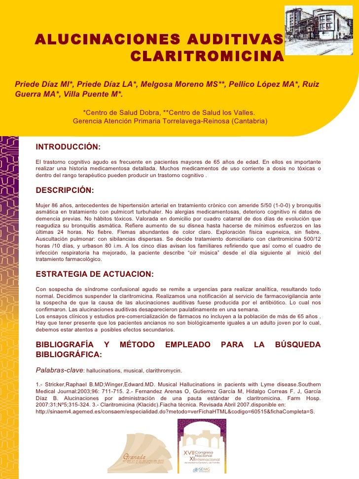Presentacion 170 Alucinaciones Auditivas Y Claritromicina