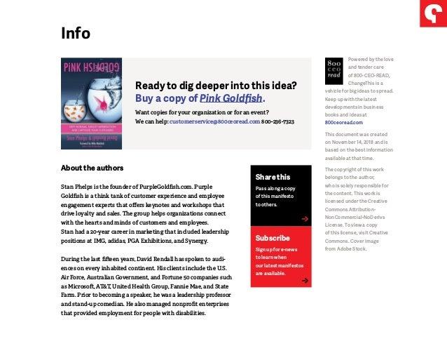 Pink Goldfish Manifesto - Defy Ordinary, Exploit