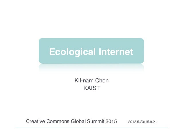 Ecological Internet 