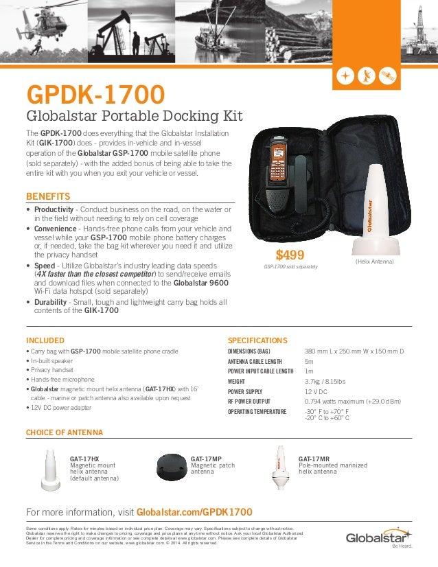 Globalstar Portable Docking Kit for GSP1700 satellite phone
