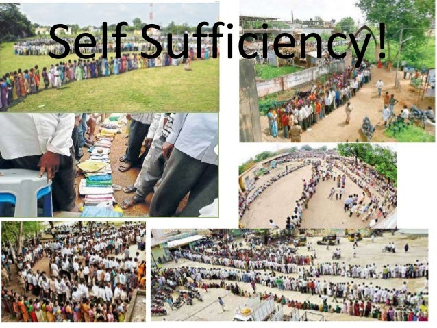Self Sufficiency!
