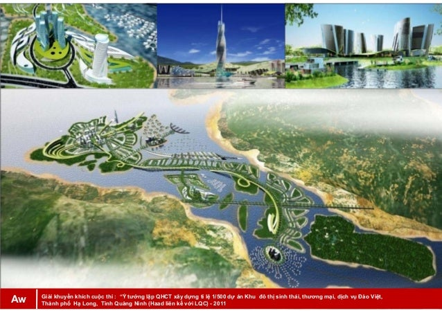 """Giải khuyến khích cuộc thi : """"Ý tưởng lập QHCT xây dựng tỉ lệ 1/500 dự án Khu đô thị sinh thái, thương mại, dịch vụ Đảo Vi..."""