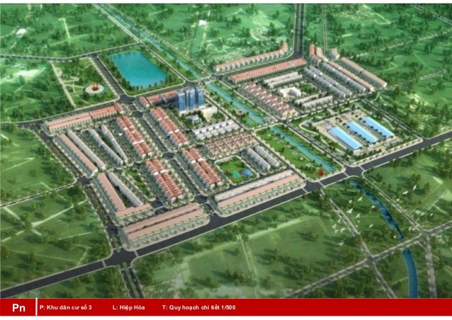 P: Khu dân cư số 3 L: Hiệp Hòa T: Quy hoạch chi tiết 1/500Pn