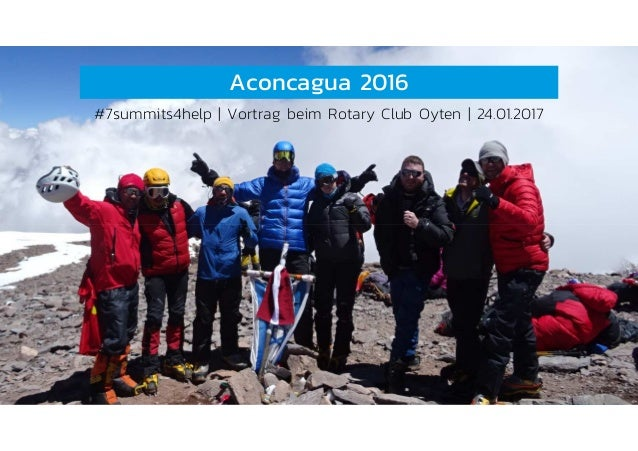 Aconcagua 2016 #7summits4help   Vortrag beim Rotary Club Oyten   24.01.2017