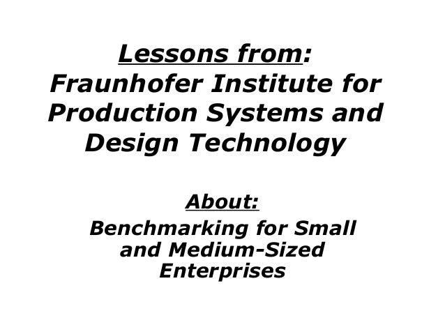 Fraunhofer Institute_benchmarking-2006