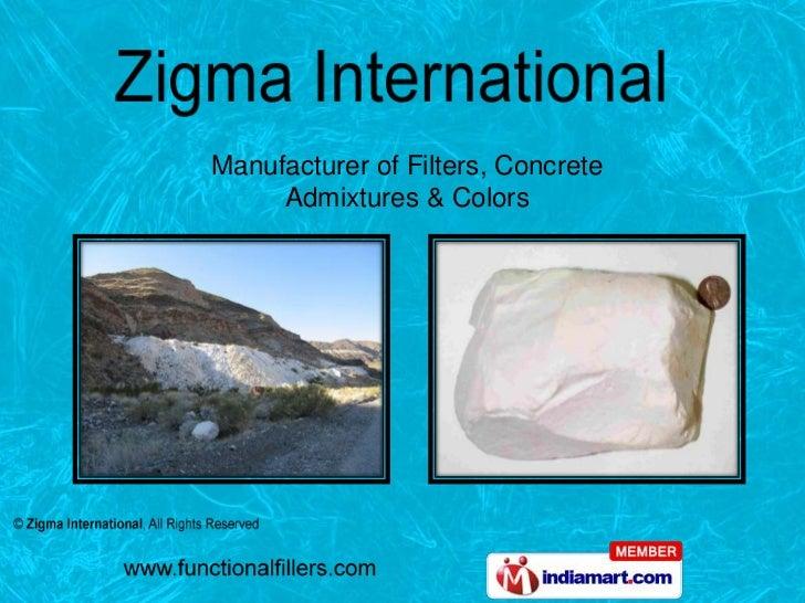 Manufacturer of Filters, Concrete     Admixtures & Colors