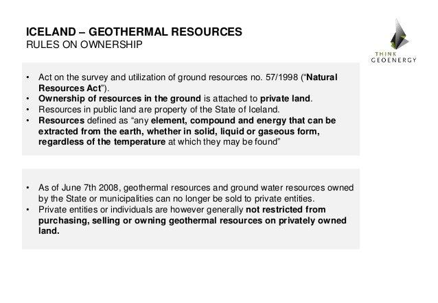 Iceland's Geothermal Energy Regulatory Framework